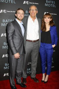 Max Thieriot, Carlton Cuse and Olivia Cooke