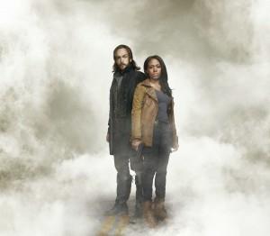 (L-R) Tom Mison as Ichabod Chrane and Nicole Beharie as Abbie Archer in Sleepy Hollow3